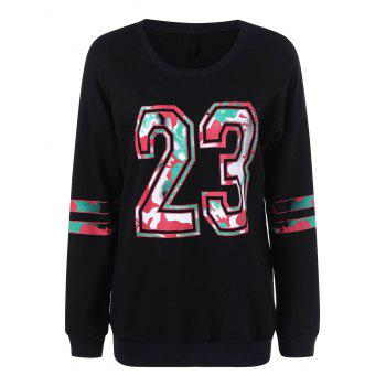 23 Graphic Plus Size Pullover Sweatshirt
