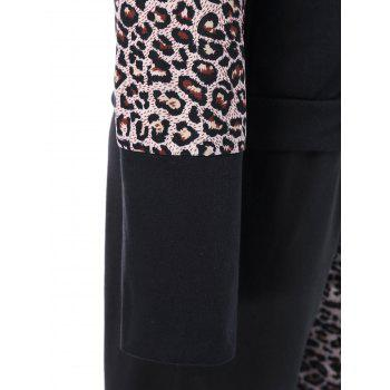 Athletic Pants With Leopard Zipper Hoodie - XL XL