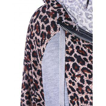Athletic Pants With Leopard Zipper Hoodie - M M