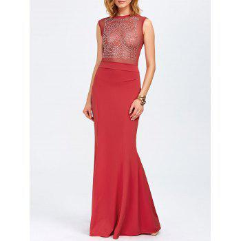 Rhinestone Maxi Evening Gown Formal Dress