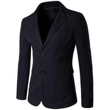 Slim Fit Striped Single Breasted Lapel Blazer