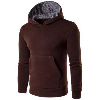 Kangaroo Pocket Design Cotton Blend Pullover Hoodie