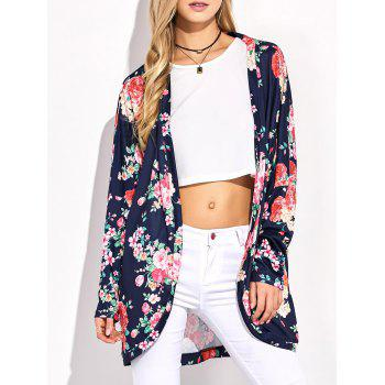 Floral Printed Open Front Cardigan
