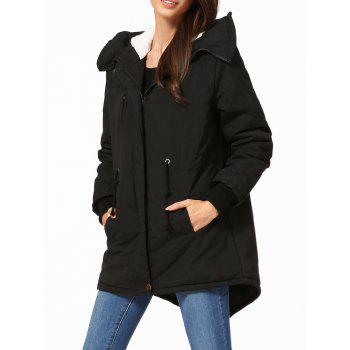 Hooded High Low Parka