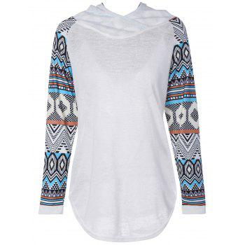 Geometric Printed T-Shirt with Hood