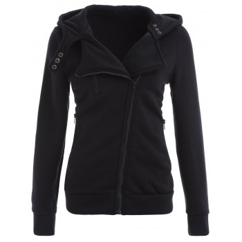 Inclined Zip Up Hoodie