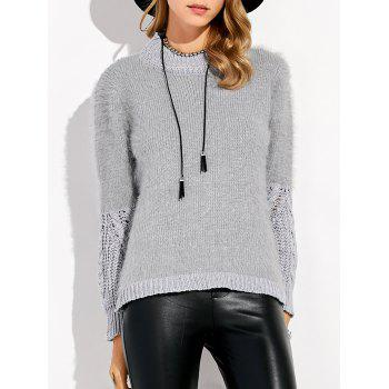 Faux Fur Insert Chunky Sweater
