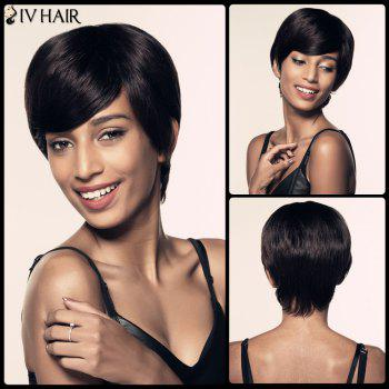 Side Bang Short Straight Spiffy Siv Hair Human Hair Wig