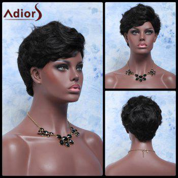Adiors Hair Pixie Cut Ultrashort Curly Fluffy Synthetic Wig