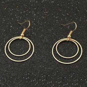 Doubled Circle Drop Earrings