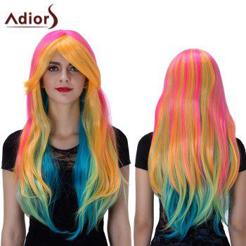 Adiors Natural Straight Long Colormix Oblique Bang Film Character Synthetic Wig