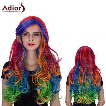 Adiors Long Side Parting Colormix Shaggy Wavy Film Character Synthetic Wig