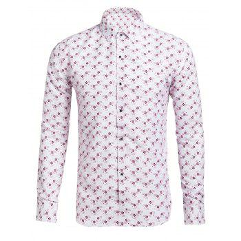 Casual Turn Down Collar Floral Shirt