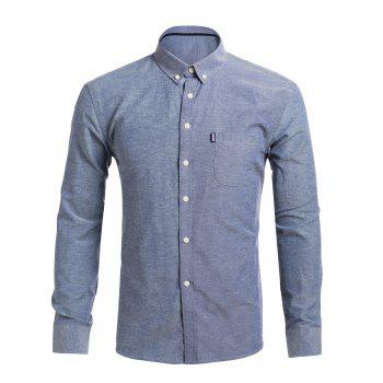 Pocket Casual Button Down Shirt
