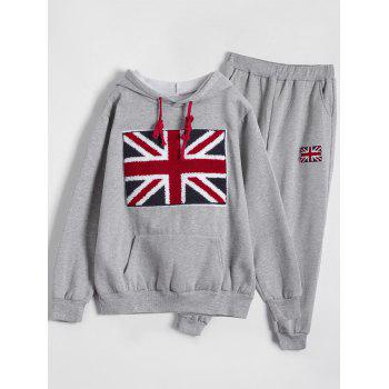 Sports Printed Hoodie and Gym Pencil Pants