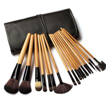 18 Pcs Fiber Makeup Brushes Set with Storage Bag