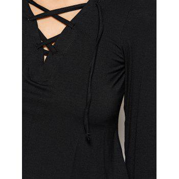 Cut Out Fitting T-Shirt - S S