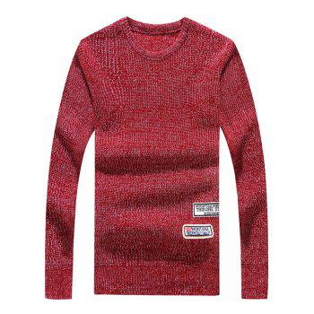 Appliques Crew Neck Long Sleeve Sweater