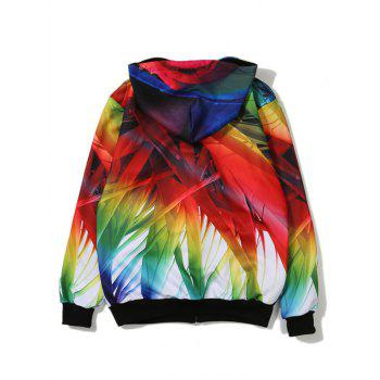 Bamboo 3D Printing Zip Up Hoodie - COLORMIX COLORMIX