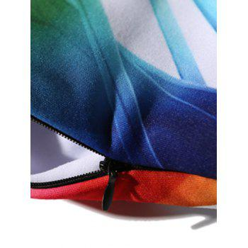 Bamboo 3D Printing Zip Up Hoodie - COLORMIX M