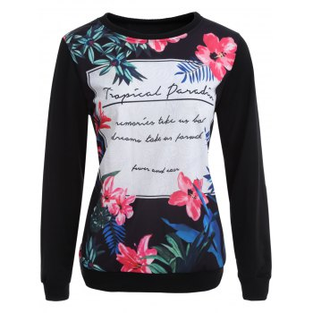 Pullover Sweatshirt with Graphic Print