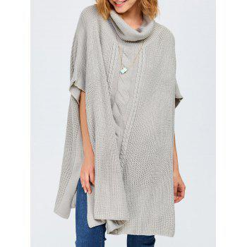 Chunky Cable Knit Batwing Sleeves Sweater