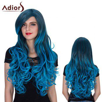 Adiors Long Side Parting Color Mixed Wavy Film Character Synthetic Wig
