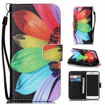 Floral Leather Card Slot Wallet Stand Case For iPhone 6S
