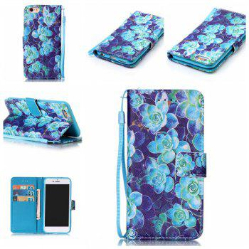 Floral Leather Card Slot Wallet Stand Case For iPhone 6S Plus