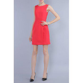 Mini Robe moulante Sans manches - Rouge M
