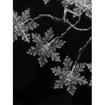 Christmas Party Home Decor Snowflake Pendant LED String Light - WARM WHITE LIGHT