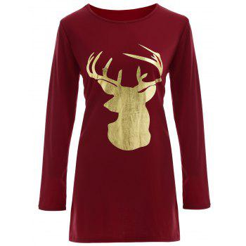Christmas Reindeer Graphic Tee Dress
