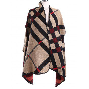 Vintage Geometry Pattern Cape Pashmina