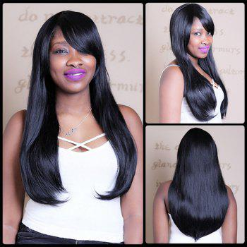 Natural Straight Long Side Bang Tail Adduction Synthetic Wig