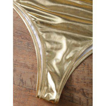 Underwire Metallic Color Bikini - GOLD/PINK XS