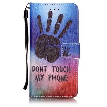 Palm Pattern PU Leather Card Slot Wallet Case For iPhone 6S - COLORMIX FOR IPHONE 6 / 6S