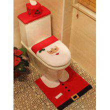 Christmas Decoration Santa Claus 3PCS Toilet Seat Cushion Cover Set