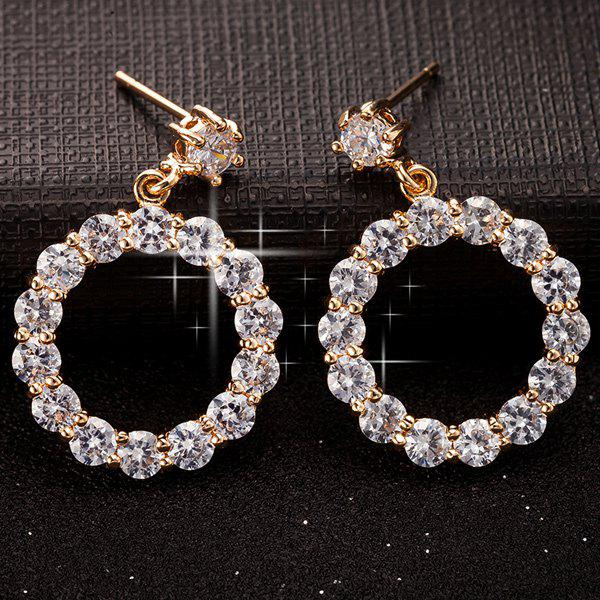 Zircon Circle Hoop Earrings