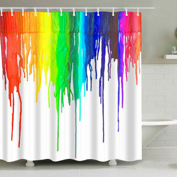 Ink Painting Waterproof Bathroom Shower Curtain - COLORMIX L