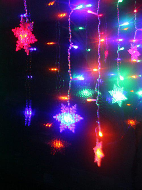 Christmas Party Home Decor Snowflake Pendant LED String Light - COLORFUL