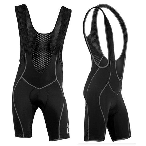 Men's High Quality Breathable 3D Cushion Pad Cycling Bib Shorts - BLACK 3XL