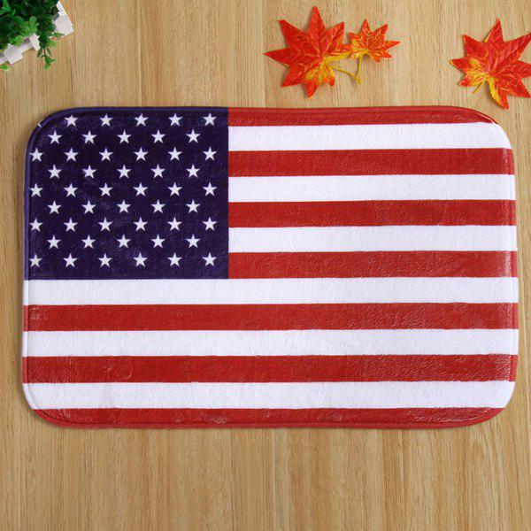 40*60CM Antislip USA Flag Design Room Door CarpetHome<br><br><br>Color: RED STRIPE