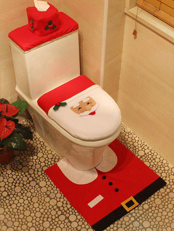 Christmas Decoration Santa Claus 3PCS Toilet Seat Cushion Cover Set 2017 hot sale cheapest custom warning bopp fragile tape used for warning and packing
