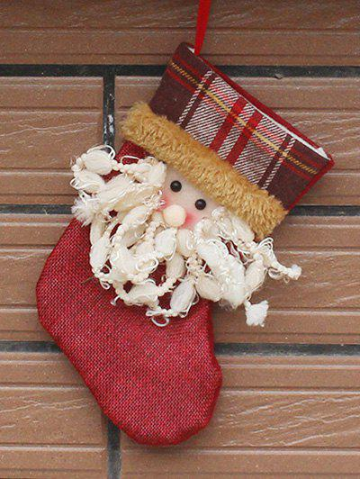 Santa Hanging Stocking Present Sock Christmas Decor - RED