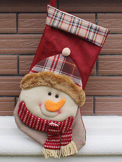 Christmas Snowman Design Hanging Gift Sock Xmas Tree Decor - COLORMIX