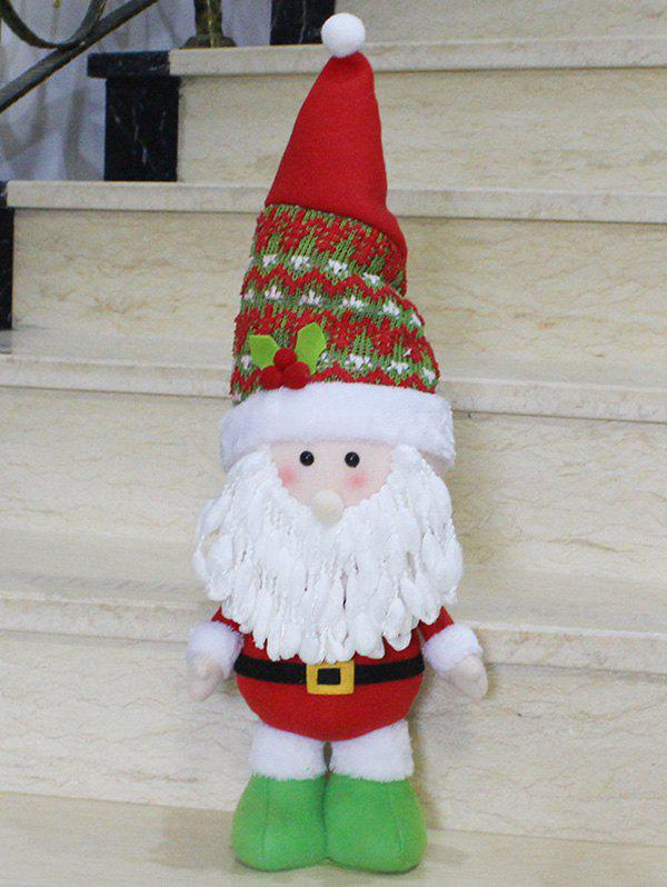 Christmas Standing Santa Claus Doll Party Decoration - RED/WHITE