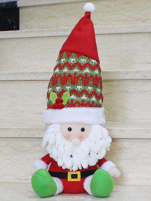 Christmas Sitting Santa Claus Doll Party Decoration - RED/WHITE