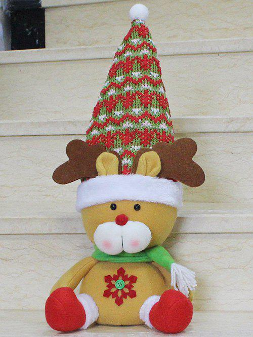 Christmas Gift Sitting Elk Doll Xmas Decoration - YELLOW