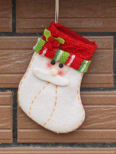 Christmas Santa Hanging Gift Sock Xmas Tree Party Decor - RED/WHITE