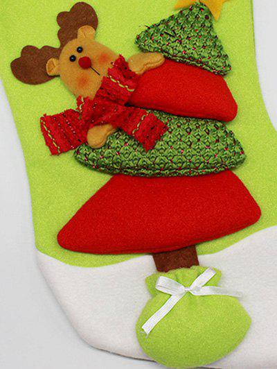 Party Decor Christmas Elk Hanging Present Stocking Bag - RED/GREEN